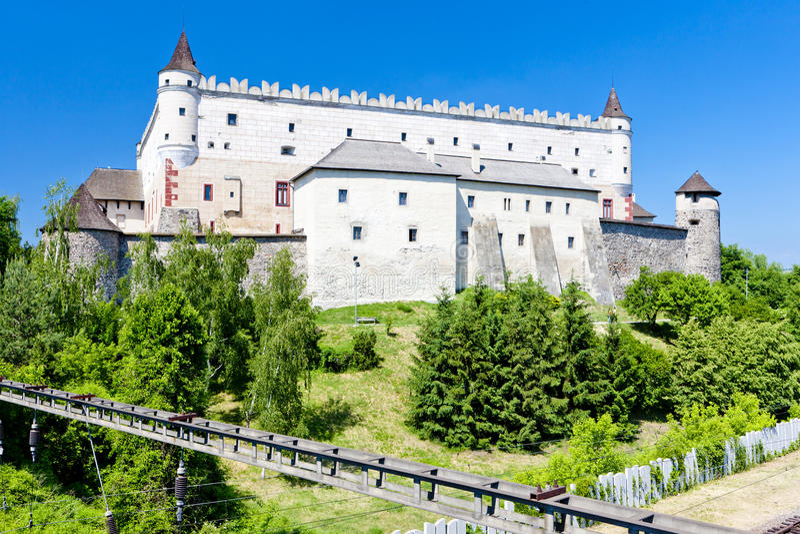 slottet zvolen royaltyfria foton