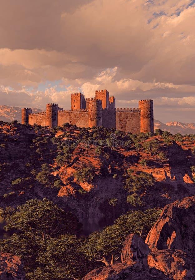 slottfästningberg royaltyfria bilder