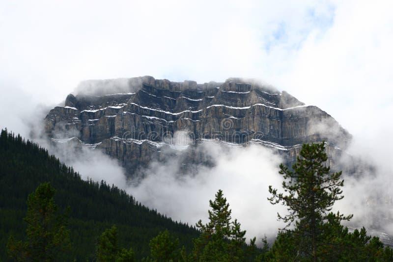 Slottföreningspunkt, Banff nationalpark royaltyfri bild