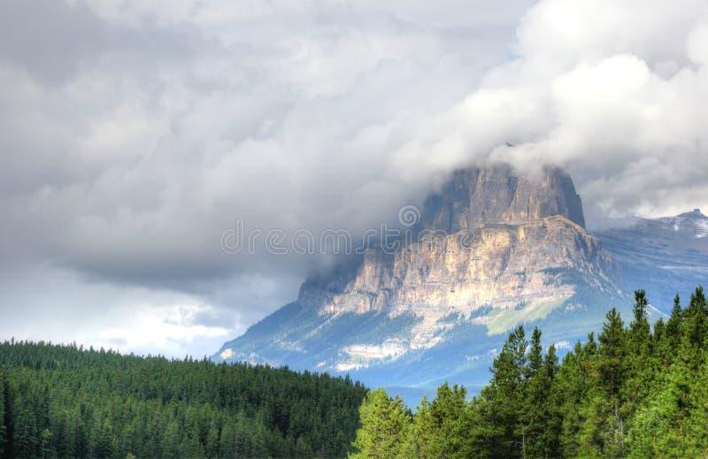 Slottföreningspunkt, Banff nationalpark royaltyfri foto