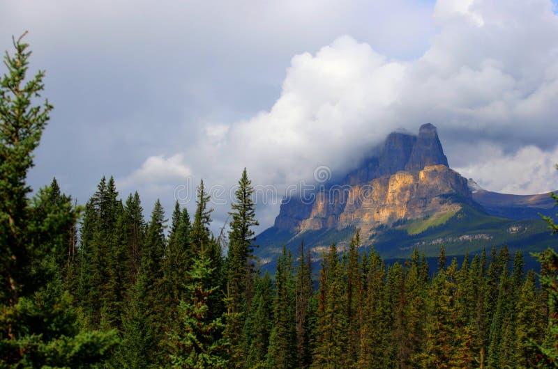 Slottföreningspunkt, Banff nationalpark arkivbild