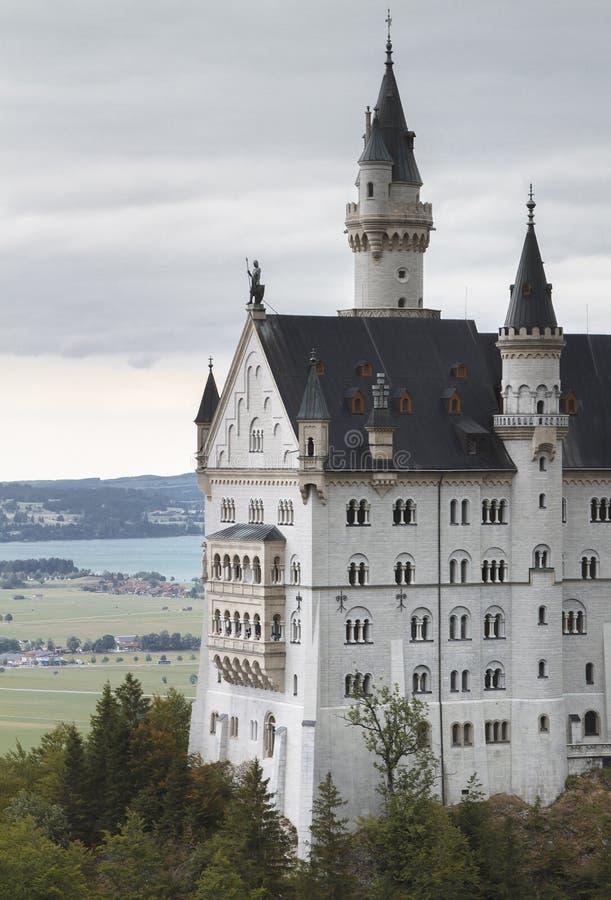 slottgermany neuschwanstein royaltyfri bild