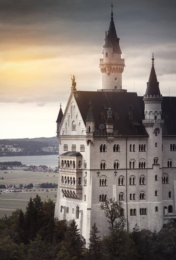 slottgermany neuschwanstein fotografering för bildbyråer