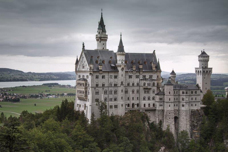 slottgermany neuschwanstein royaltyfri foto