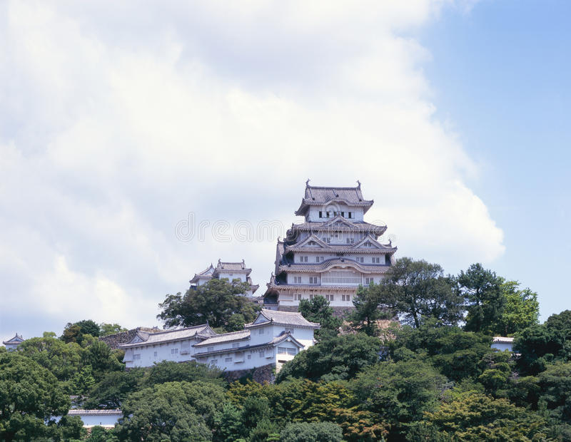 slotthimeji japan royaltyfria foton