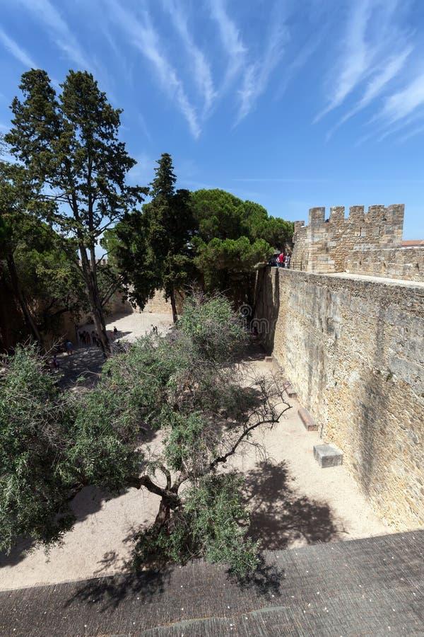 slottjorge lisbon portugal sao fotografering för bildbyråer