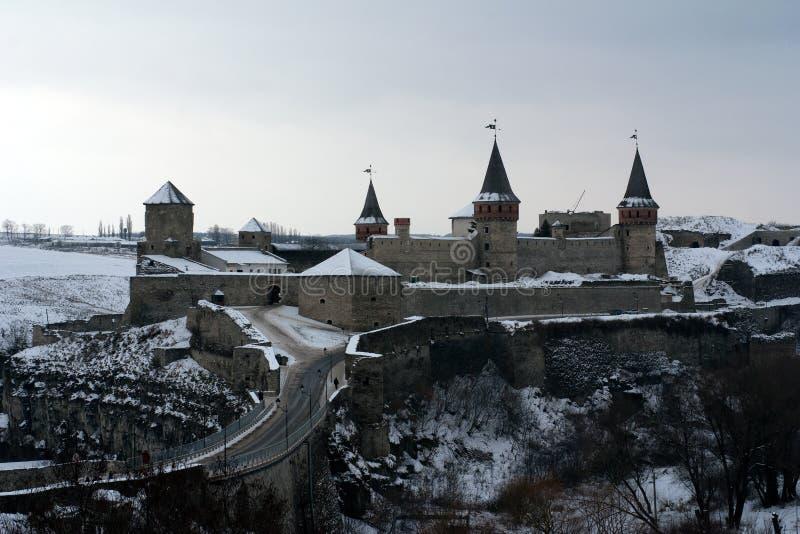 slottkamyanets podilsky ukraine arkivfoto