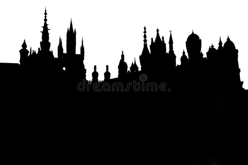 Slottkontur arkivbilder