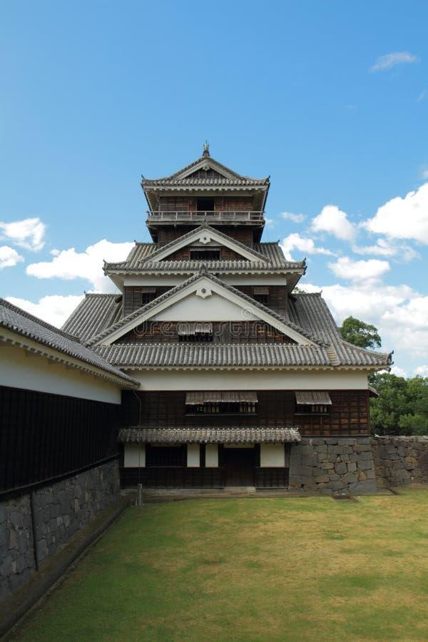 slottkumamoto turret royaltyfri foto