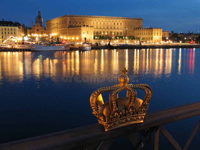 Slottkunglig Person Stockholm Arkivbild