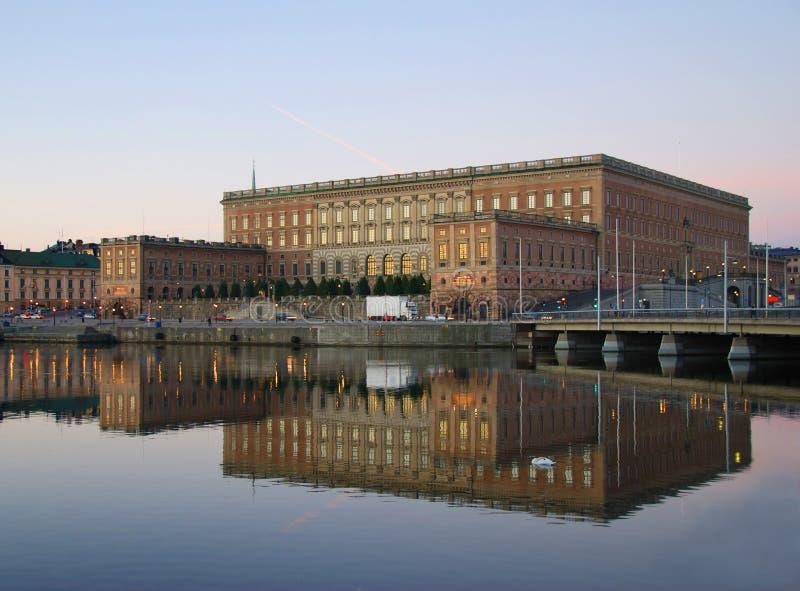 slottkunglig person stockholm royaltyfri foto