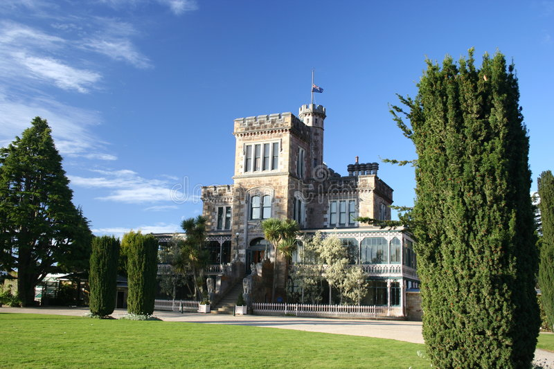 slottlarnach New Zealand royaltyfri foto