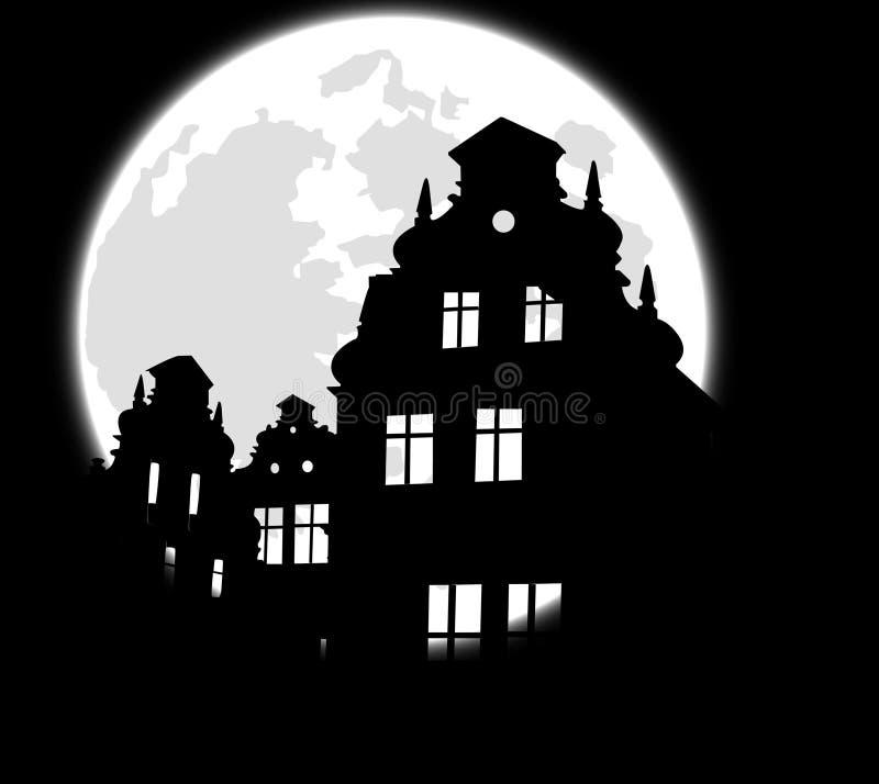 slottmoonen fördärvar vektor illustrationer
