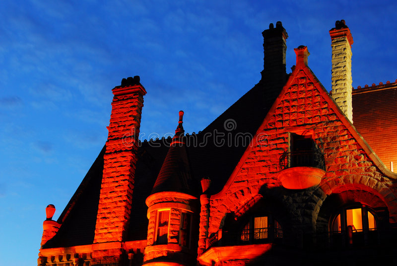 slottnattplats royaltyfria bilder