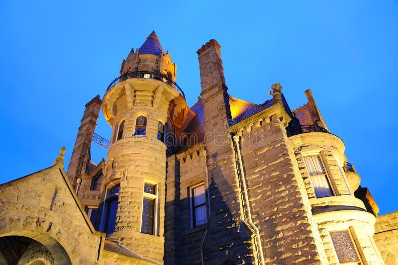 slottnattplats victoria royaltyfri bild