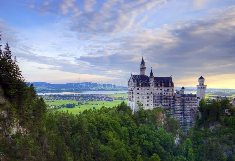 slottneuschwanstein royaltyfria bilder