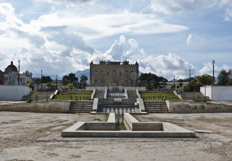Slottpalermo Sicily Zisa Arkivbild