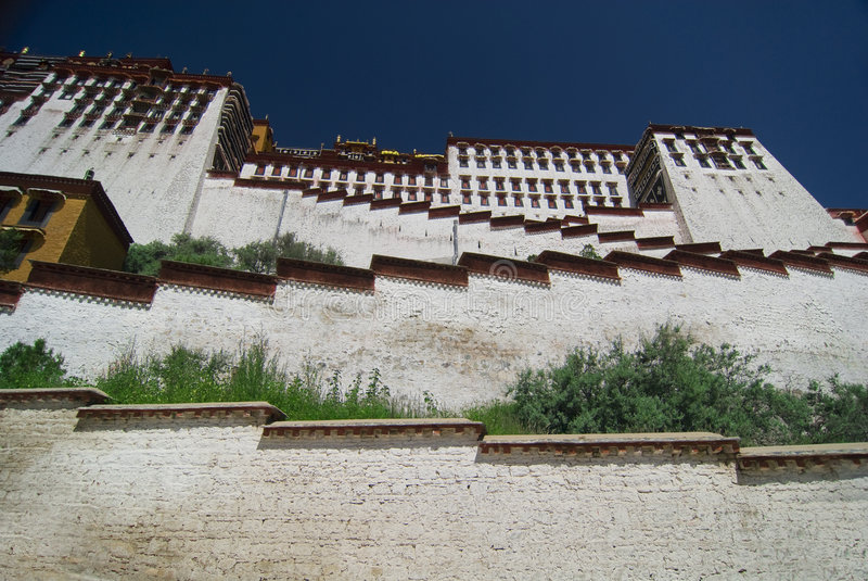 slottpotala tibet arkivbild