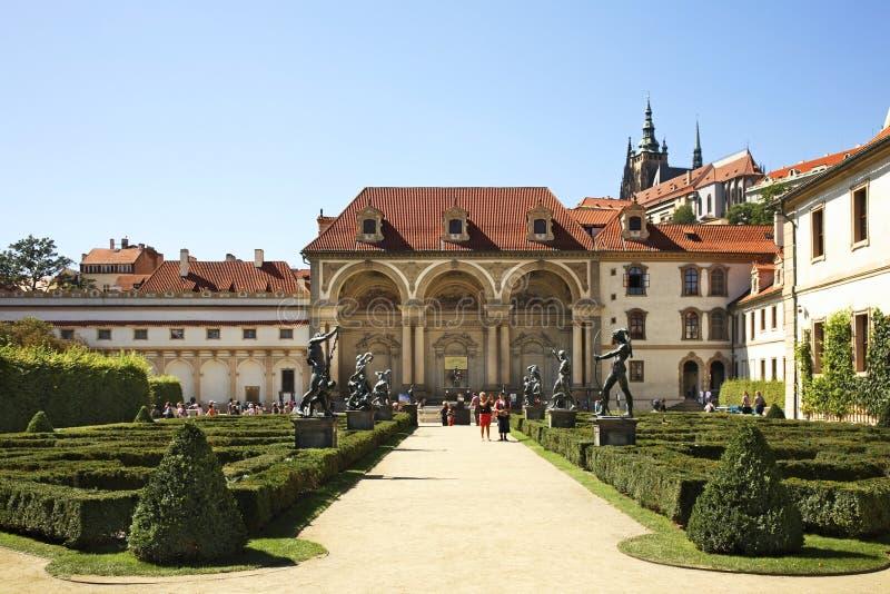 slottprague wallenstein för republiktown för cesky tjeckisk krumlov medeltida gammal sikt royaltyfria bilder