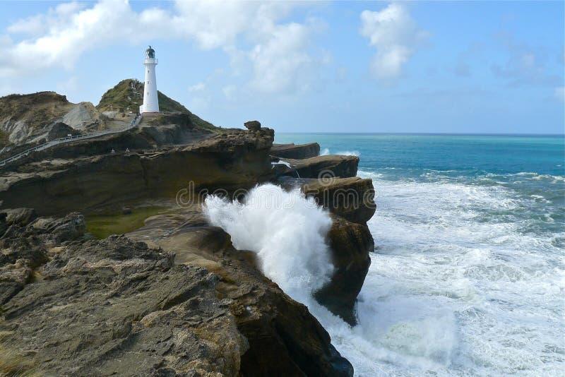 Slottpunktfyr NZ arkivfoton