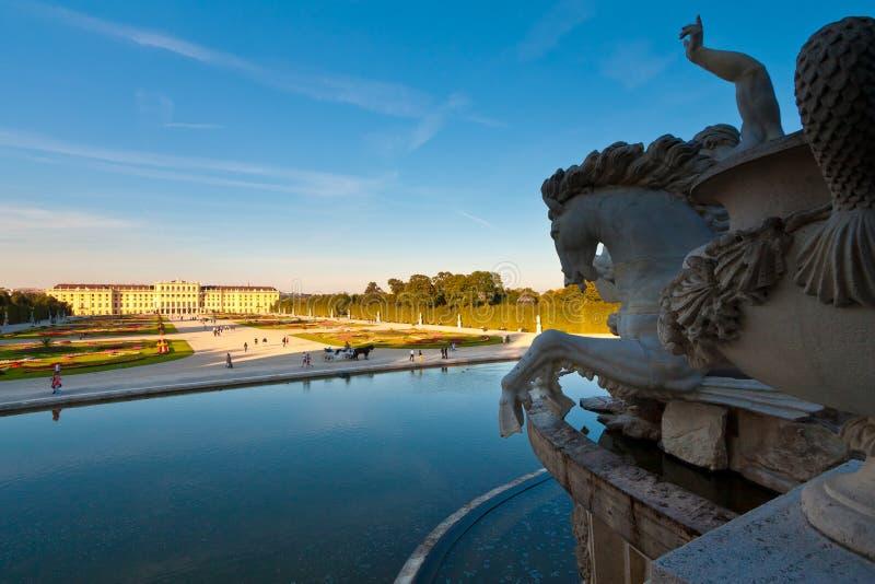 slottschoenbrunn fotografering för bildbyråer