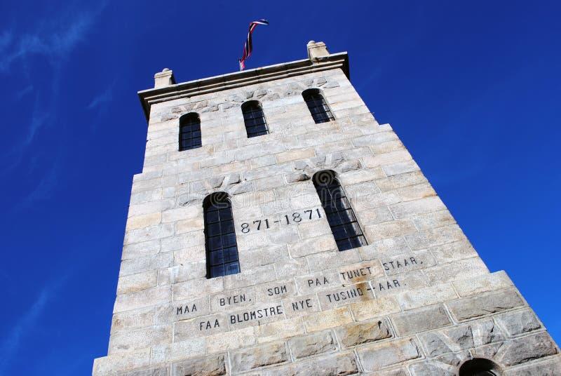 Slottsfjell塔在Tonsberg,挪威 免版税库存图片