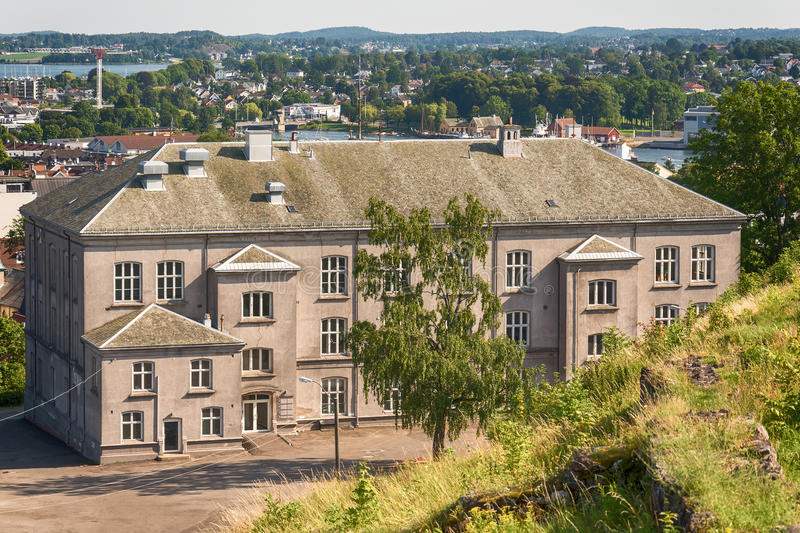 Slottsfjell School, Tonsberg - Norway. Tonsberg, Norway - July 24, 2016: Slottsfjell School is a former school in Tonsberg Municipality, Vestfold. The school royalty free stock photography
