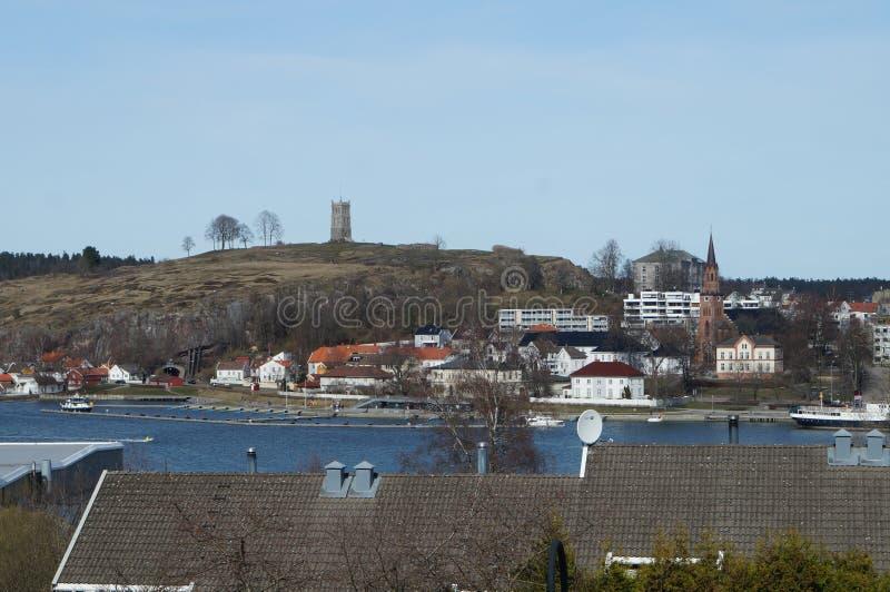 Slottsfjellet fotografie stock