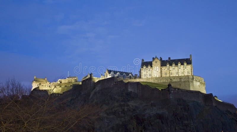 slottskymningedinburgh scotland sikt arkivbilder