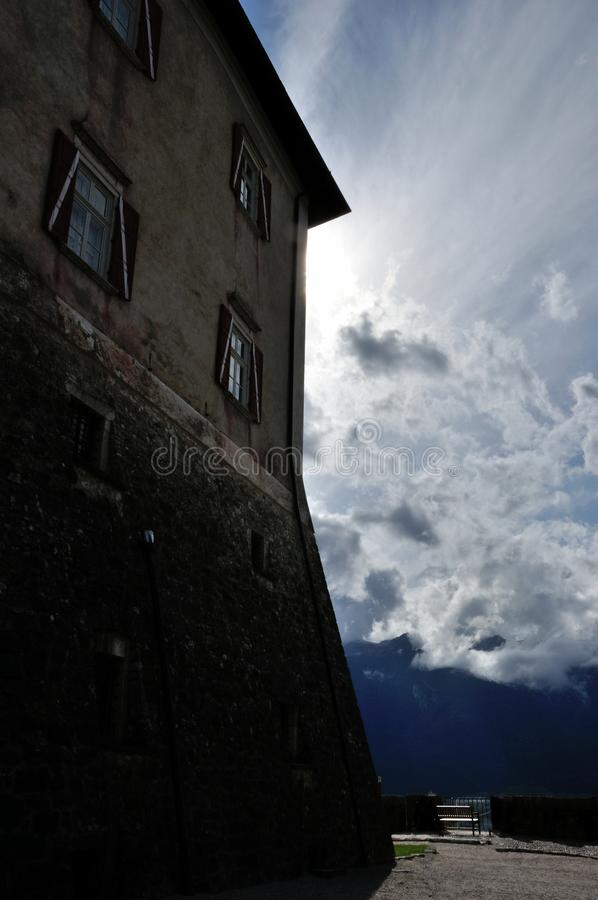 SlottThun vägg fotografering för bildbyråer