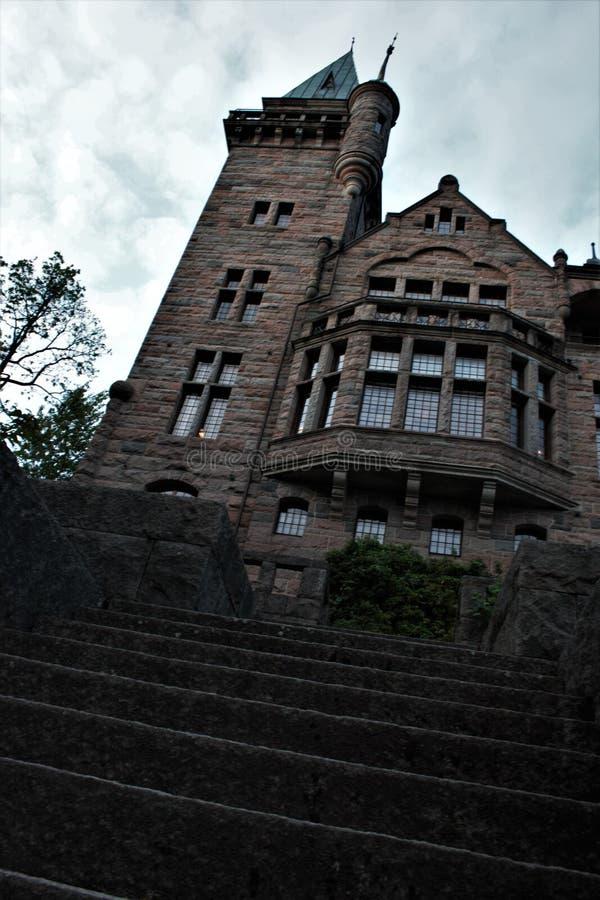 Slotttorn underifrån arkivbilder