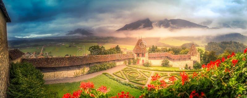 Slottträdgårdar arkivbilder