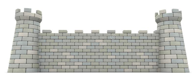Slottvägg royaltyfri illustrationer