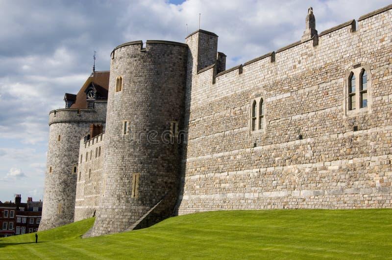 Slottväggar, Windsor, Berkshire royaltyfria foton