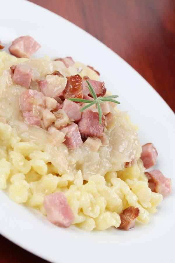 slovak еды halushky национальный стоковое изображение rf