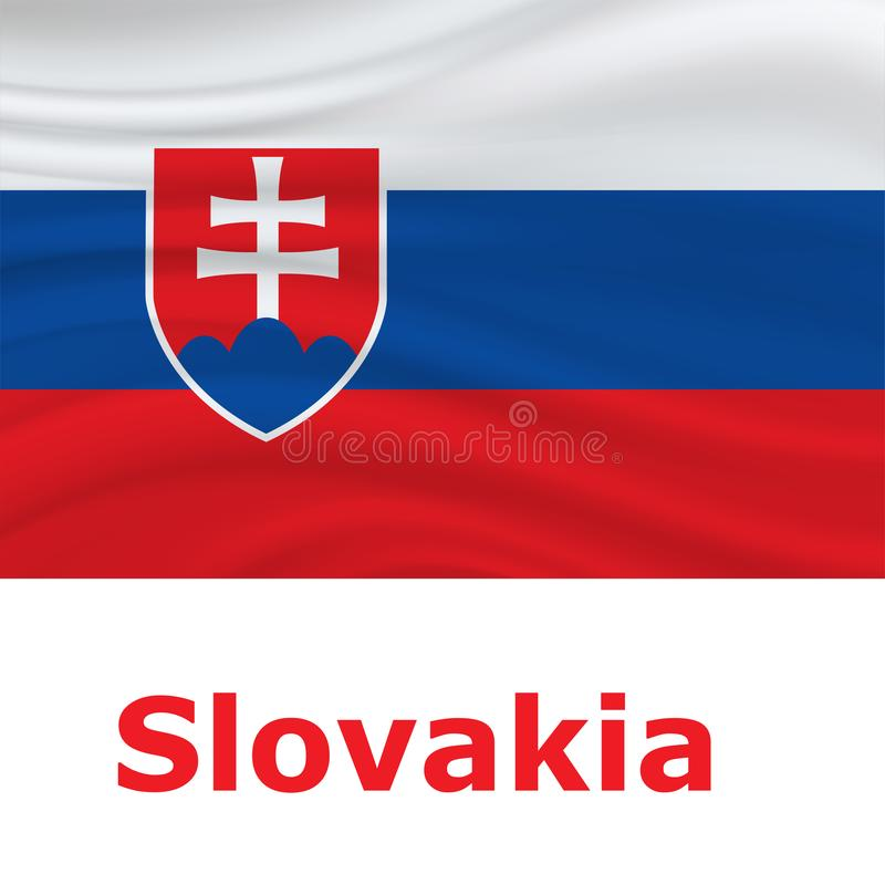 Slovak constitution day. Slovakia Independence Day background vector illustration