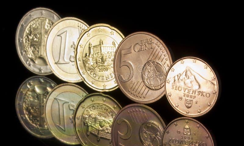 Slovak EURO stock images
