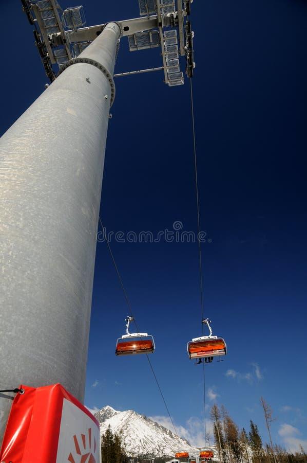 slovakei горы chairlifts стоковые фотографии rf