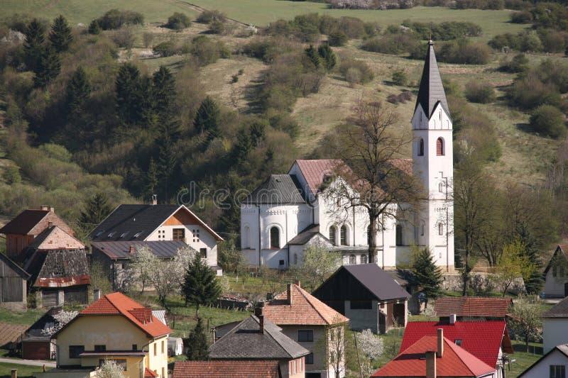 Slovakia. Ruzomberok district, Zilina region of Slovakia. The village of Valaska Dubova stock image
