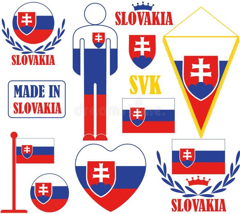 slovakia vektor illustrationer