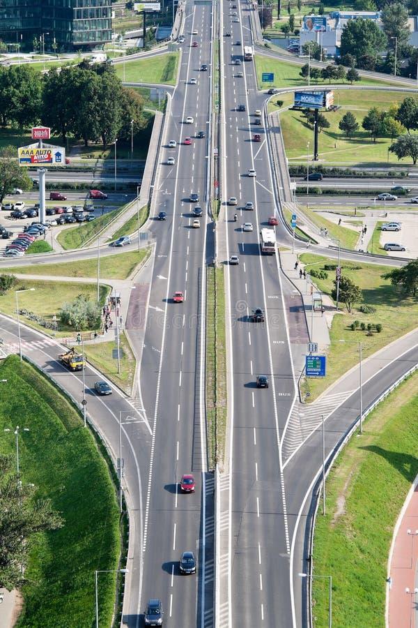 Slovakia, bratislava, city highway stock image