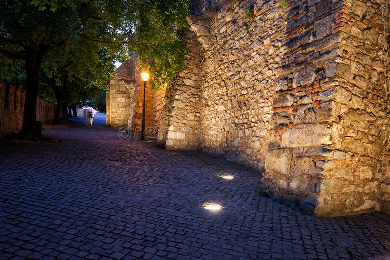 Evening at Bratislava Castle royalty free stock photos