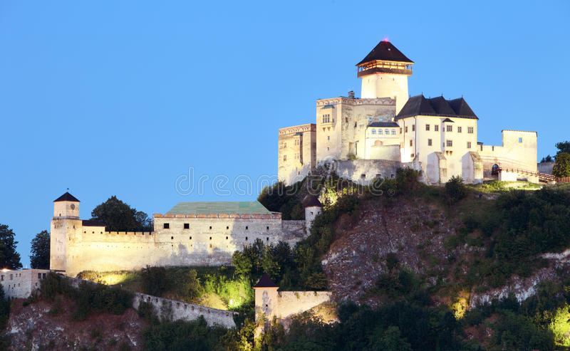 Slovakia Castle - Trencin royalty free stock photo