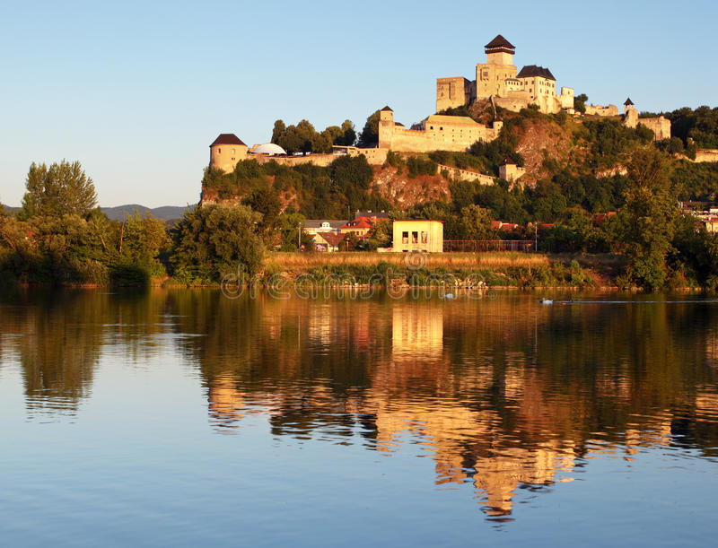 Slovakia Castle - Trencin royalty free stock photos