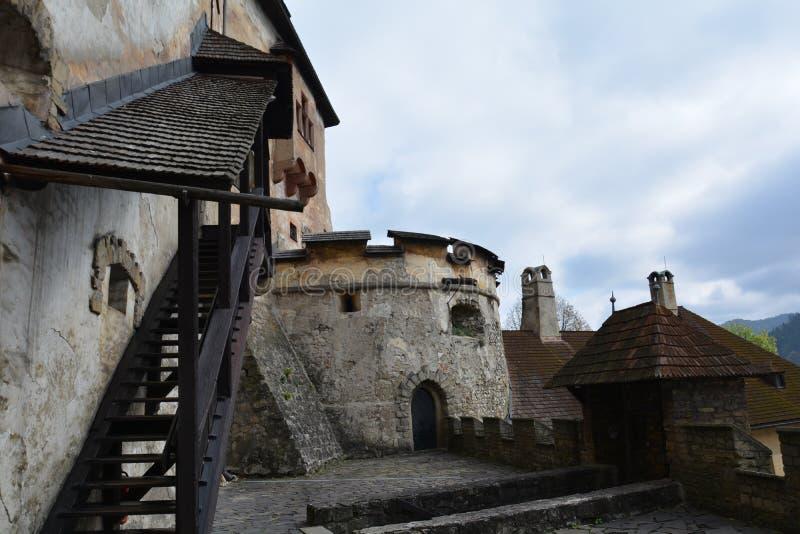 slovakia Château d'Orava image libre de droits
