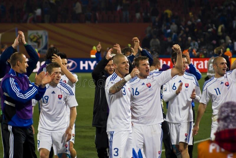 Slovakia - equipe de futebol - WC 2010 de FIFA imagens de stock royalty free