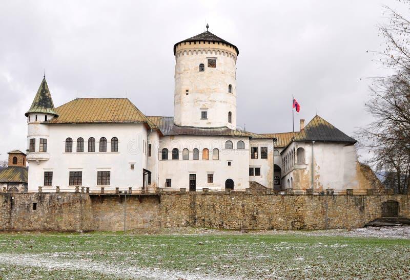 slovakia för budatinslottrepublik zilina arkivfoto