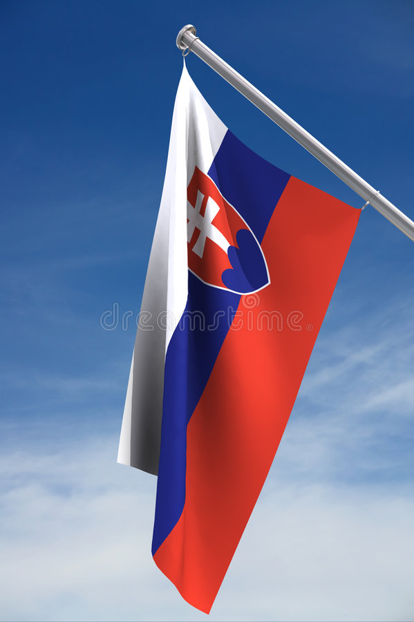 Slovakia Flag royalty free stock images
