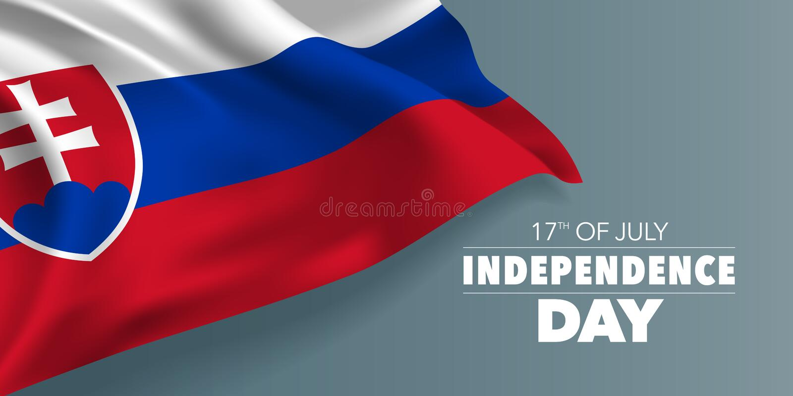 Slovakia happy independence day greeting card, banner with template text vector illustration royalty free illustration