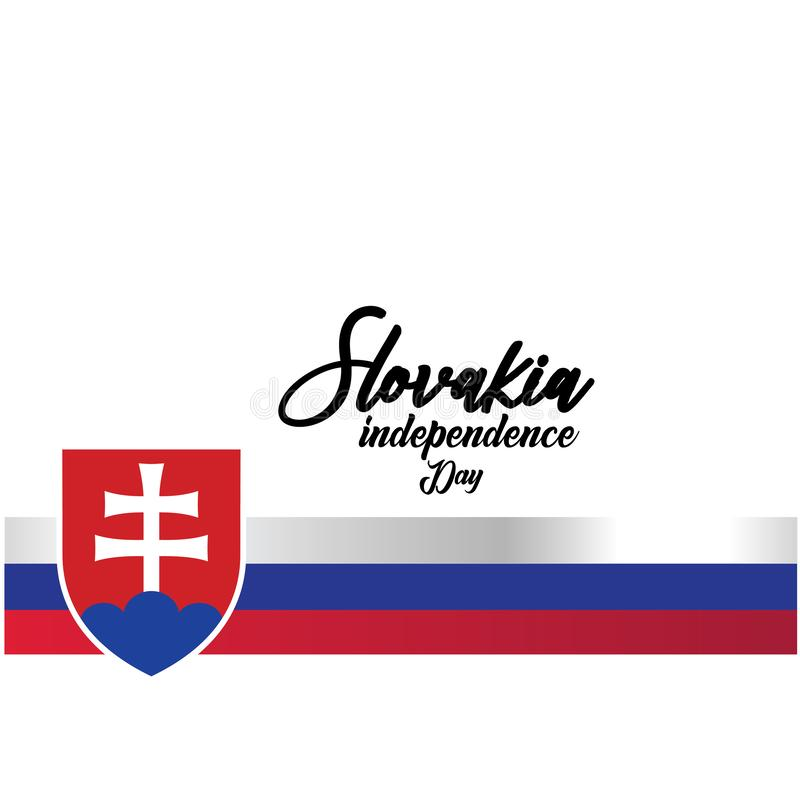 Slovakia Independence Day Vector Template Design Illustration - Vector vector illustration